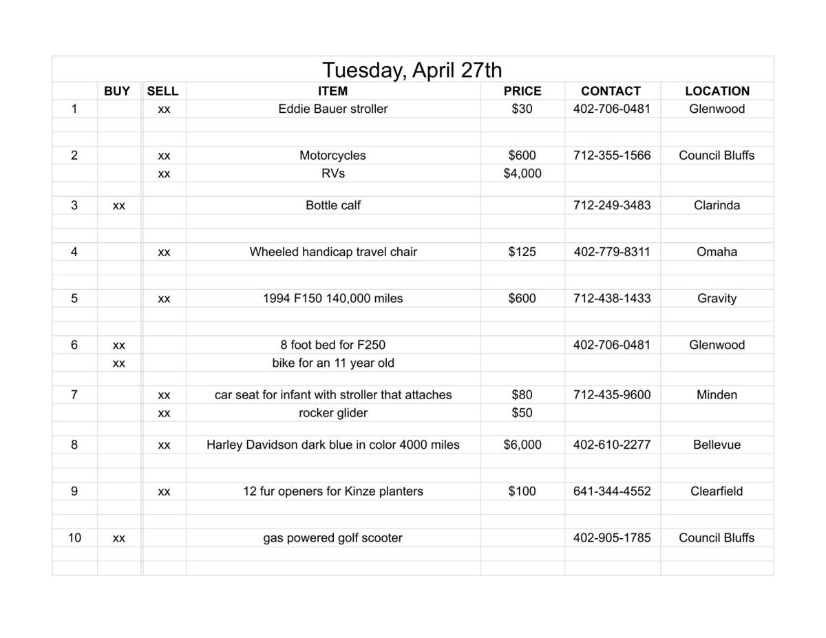 Tuesday, April 27th