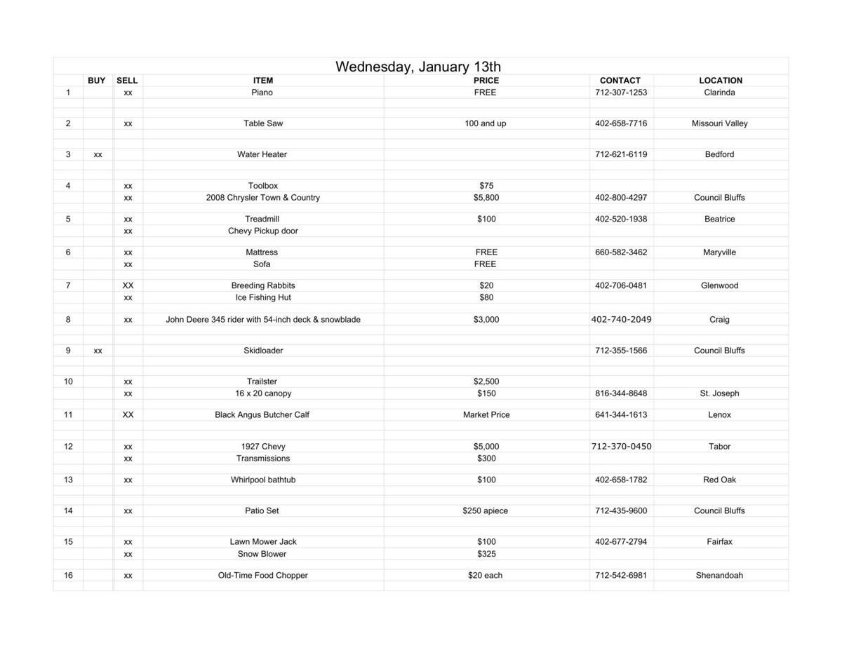 Wednesday, January 13th