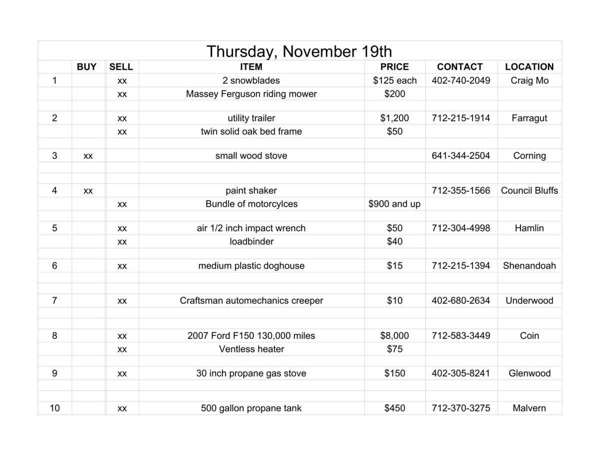Thursday, November 19th