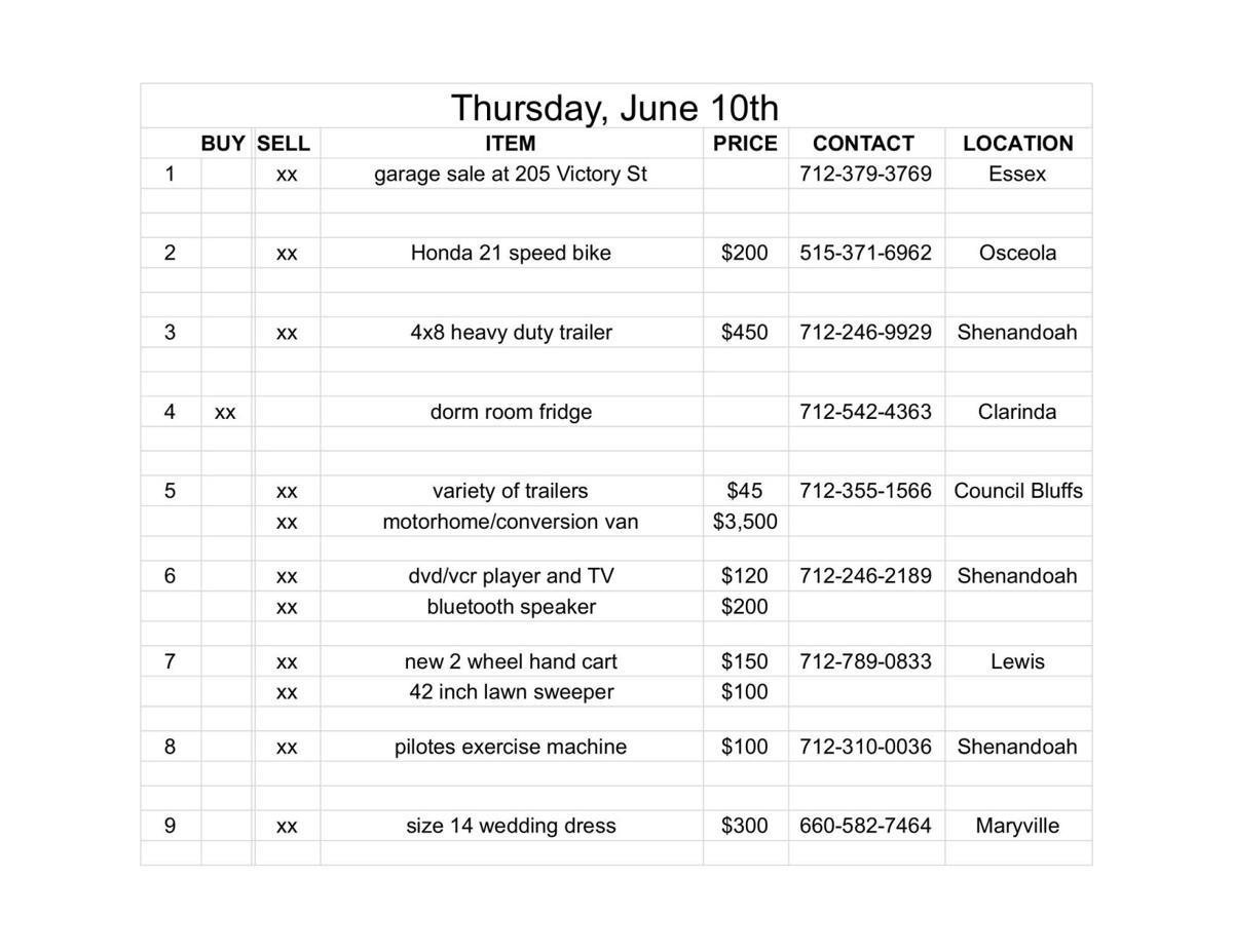 Thursday, June 10th