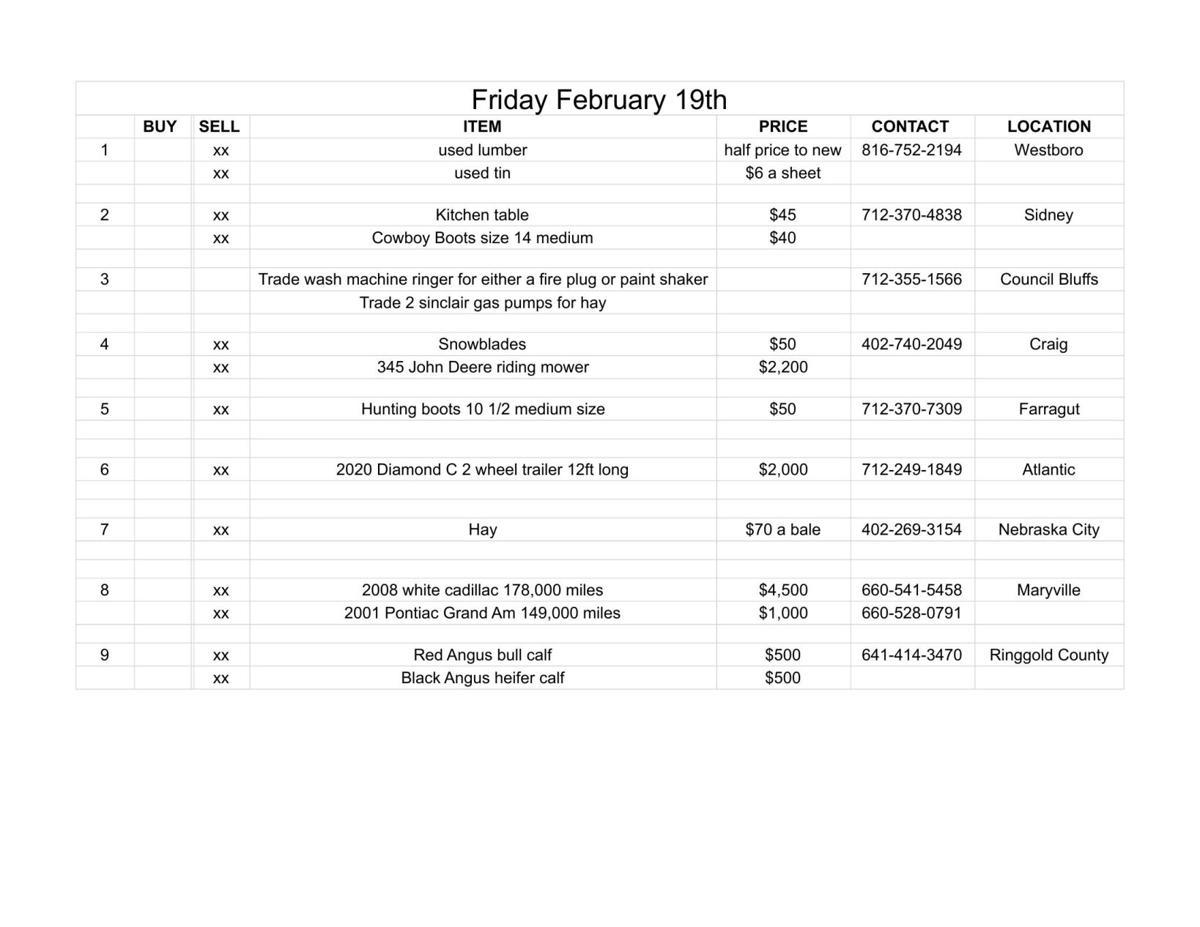 Friday February 19th