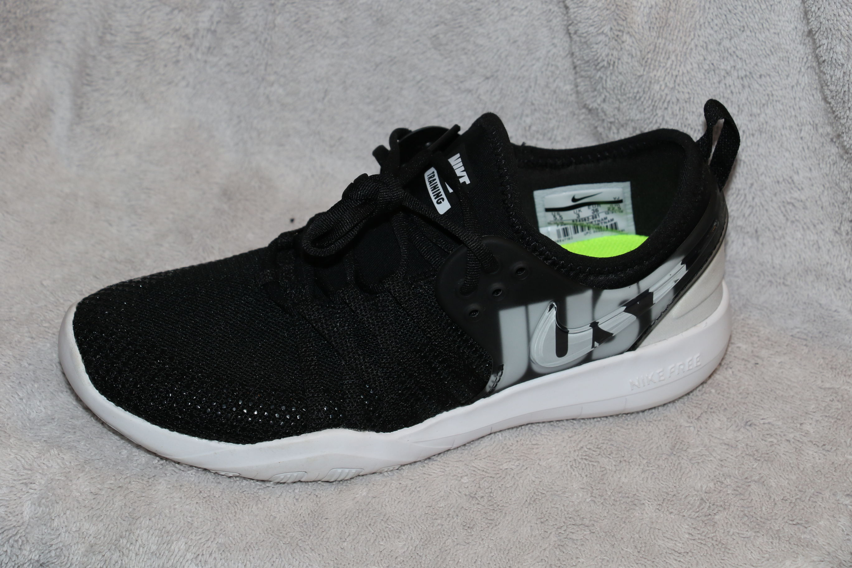Found one black Nike training shoe, fairly new condition. image 1