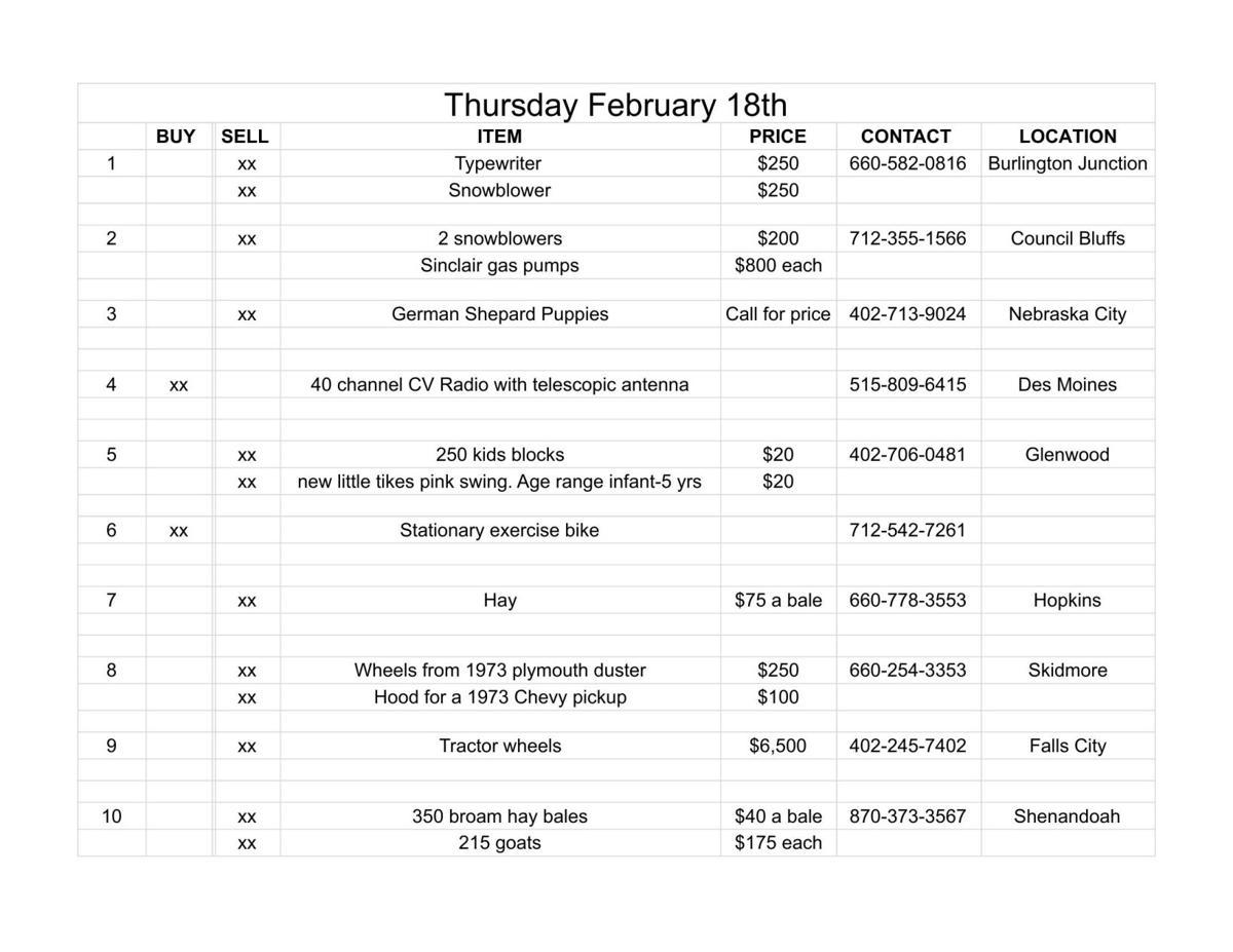 Thursday February 18th