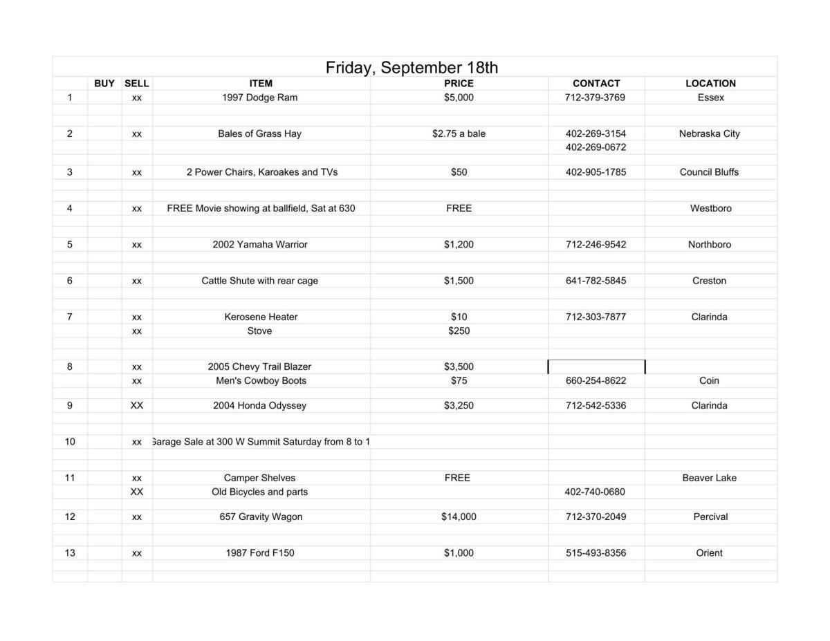 Friday, September 18th