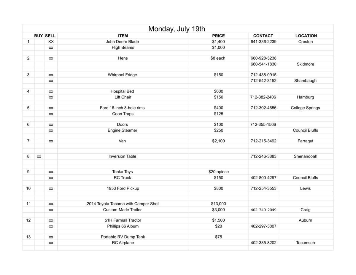 Monday, July 19th