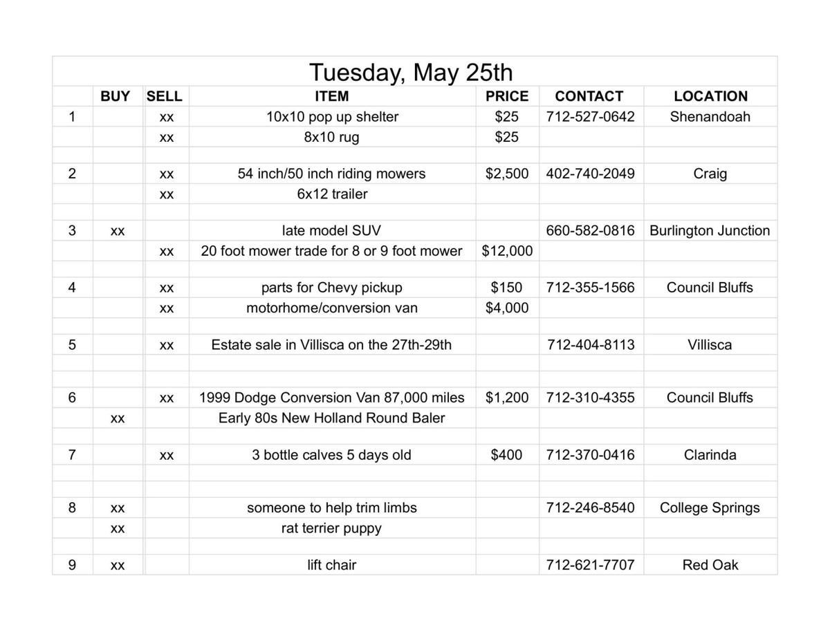 Tuesday, May 25th