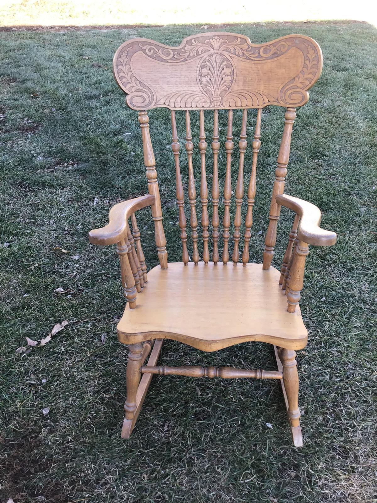 Antique Oak Rocker image 1
