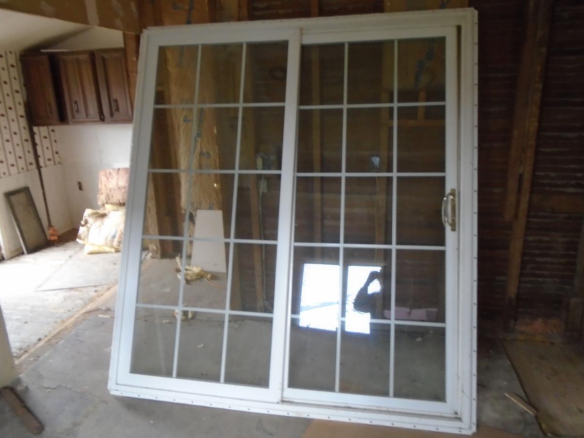 "72""  x 80"" double pane, sliding glass patio door, VG condition asking $600 image 1"