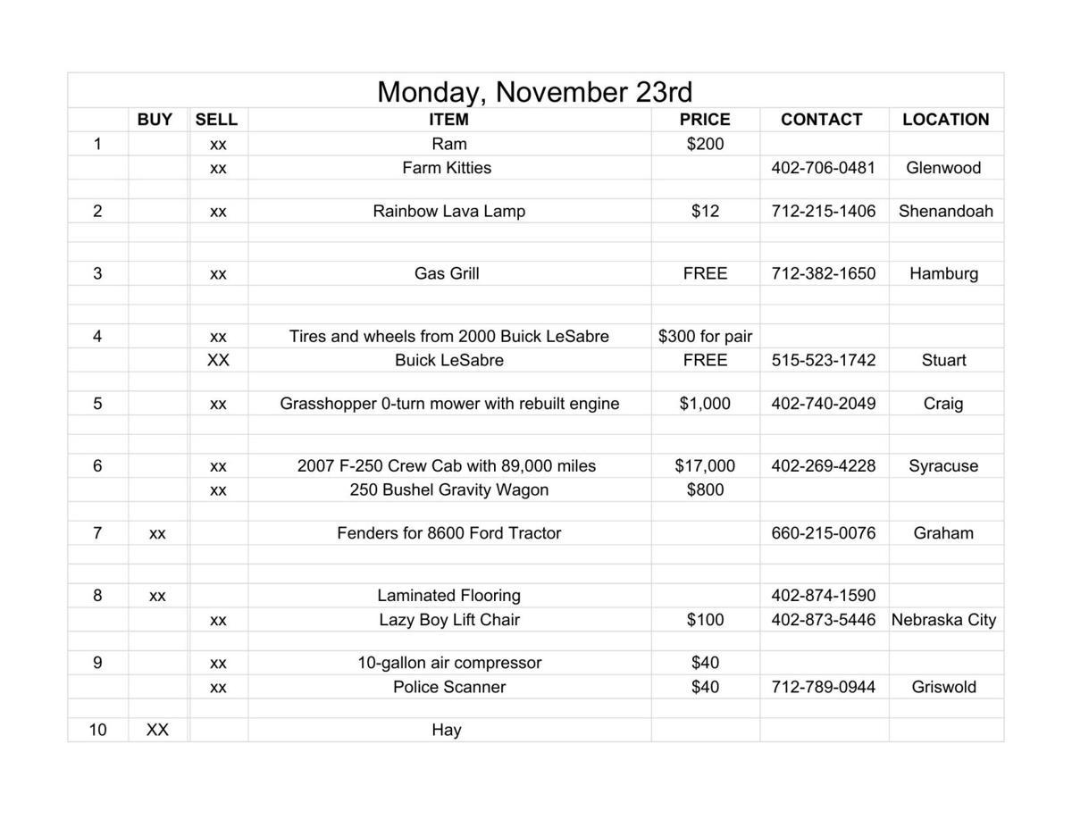 Monday, November 23rd