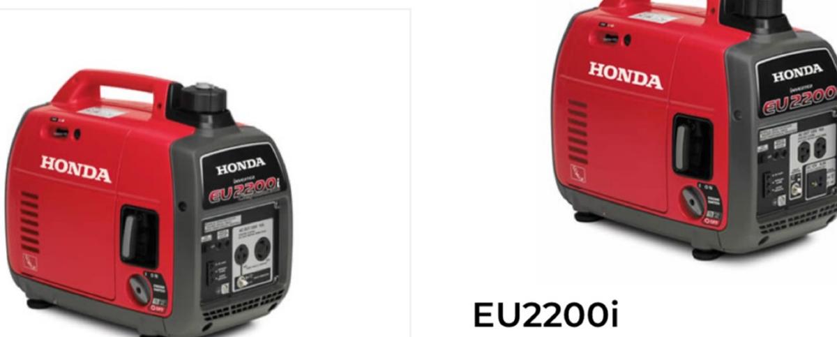 Honda portable generator and companion image 1