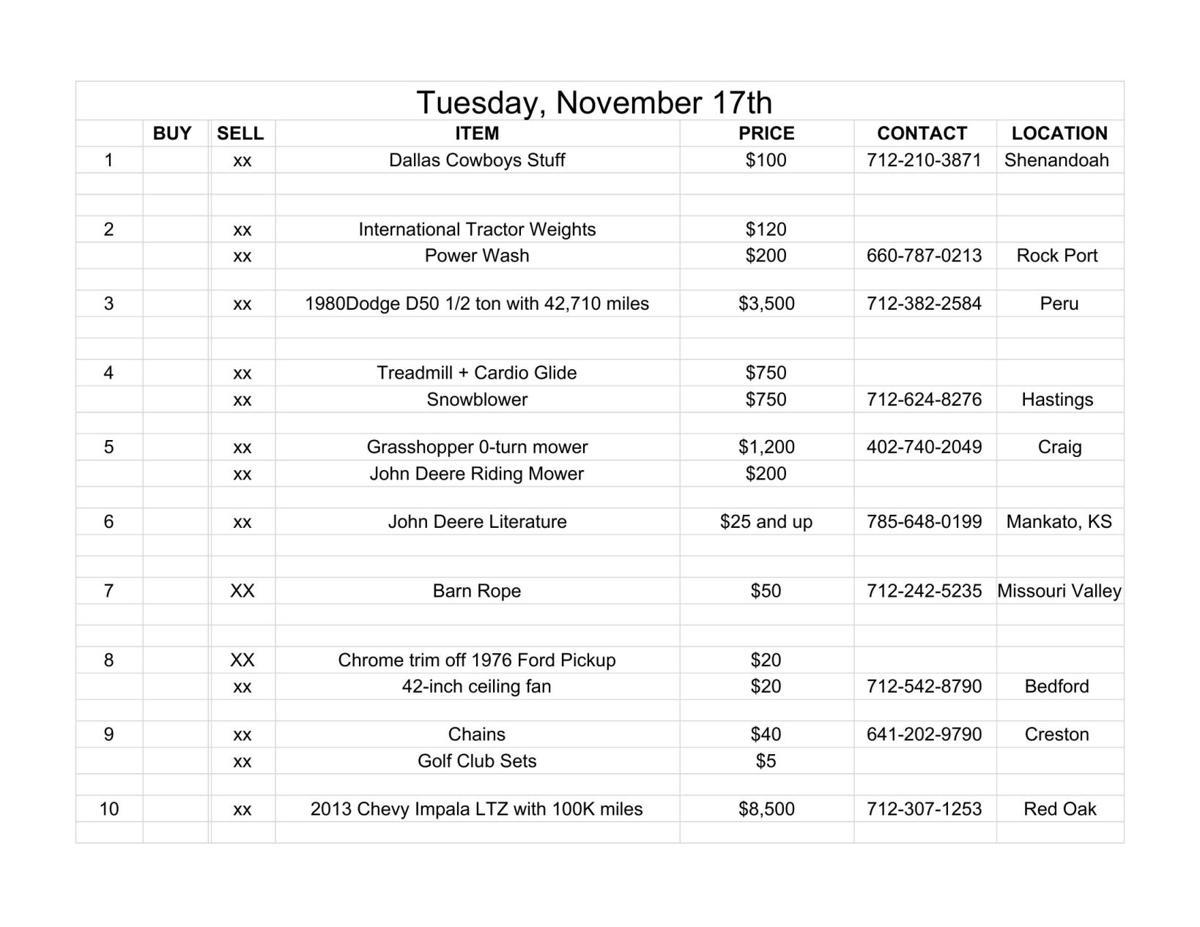 Tuesday, November 17th