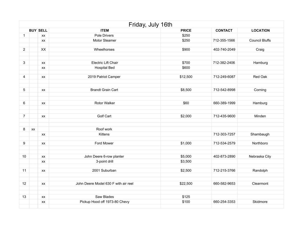 Friday, July 16th
