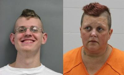 28-year-old Troy E. Petersen of Essex & 44-year-old April Montello-Roberts of Shenandoah