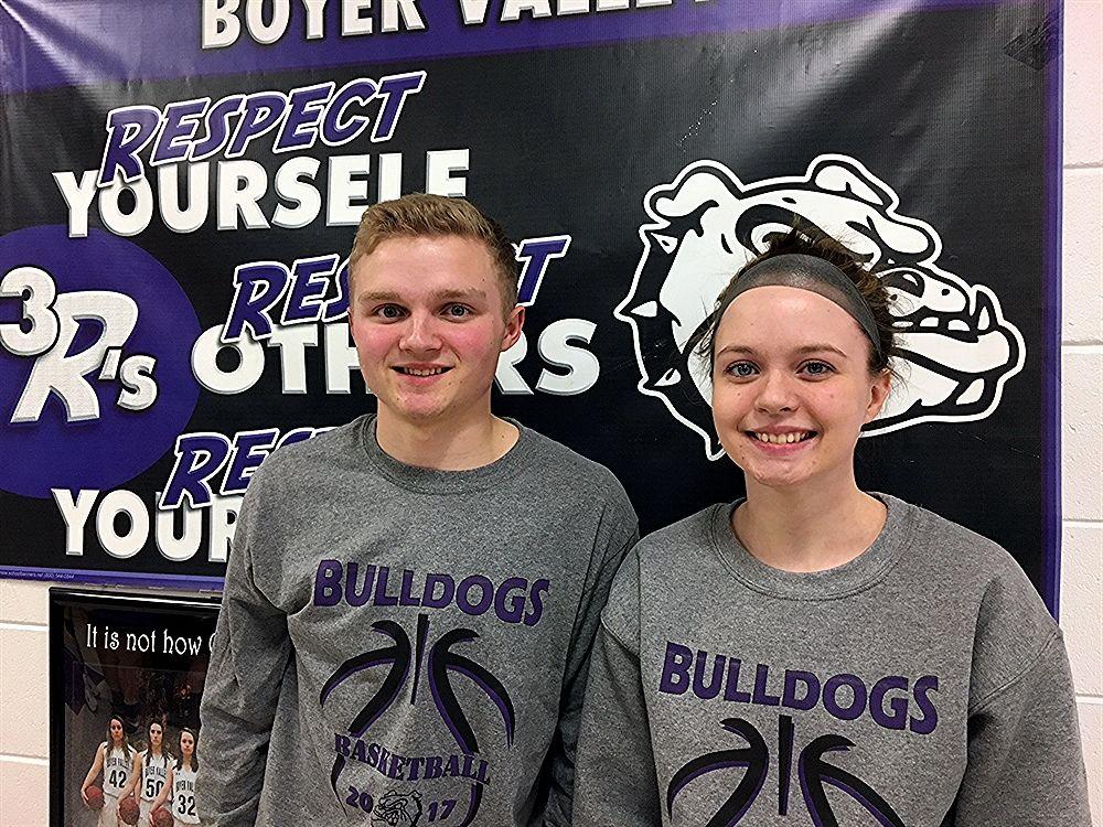 Joe and Erin Weber, Boyer Valley Basketball