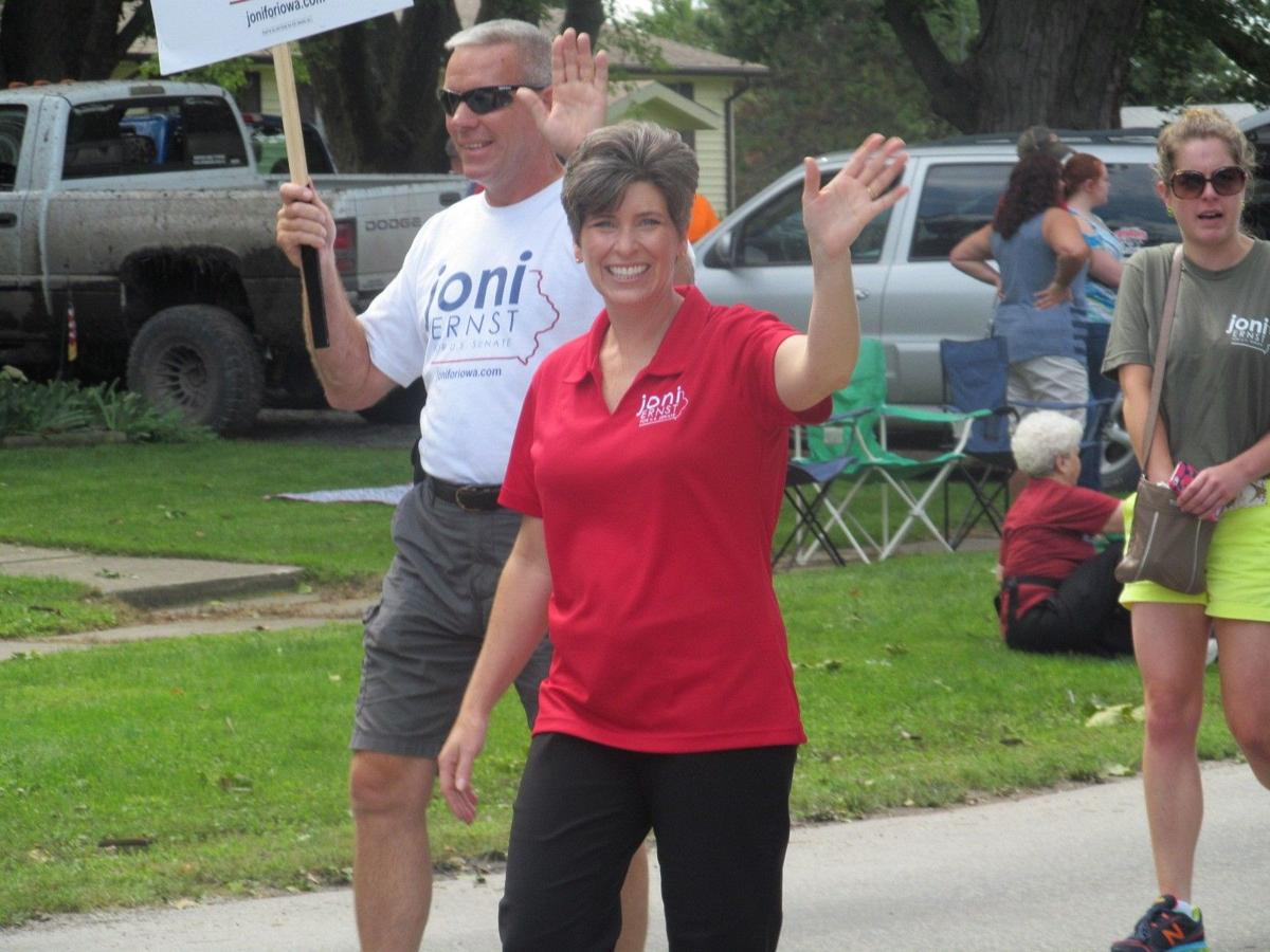 Joni Ernst at Essex Labor Day Parade