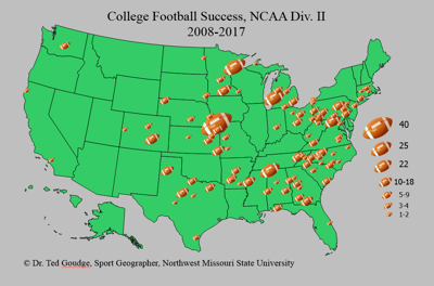 Northwest Missouri Map.Geography With Goudge Division Ii Football Success News Kmaland Com