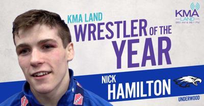 KMAland Wrestler of the Year Hamilton