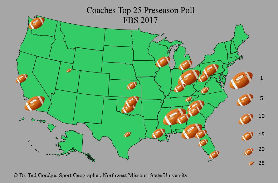 Northwest Missouri Map.Geography With Goudge Fbs Coaches Poll Top 25 News Kmaland Com