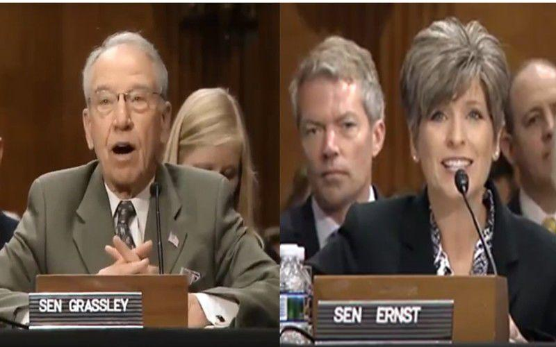 Senate GOP peers elect Grassley and Ernst to leadership positions