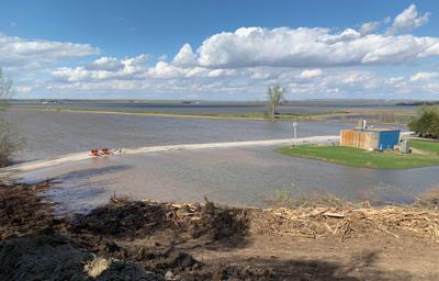 Missouri River Flooding near Peru, NE