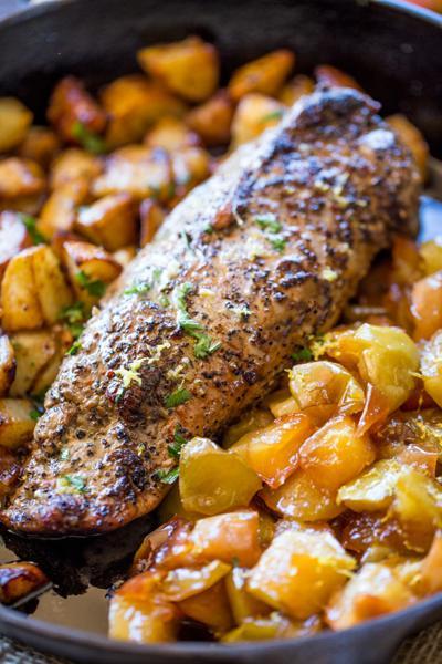 Honey Apple Pork with Potatoes