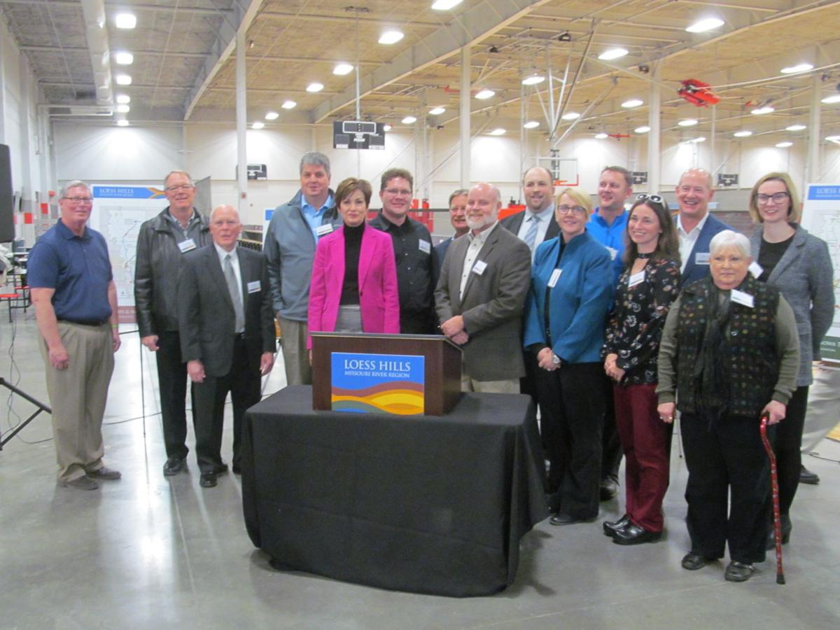 Iowa Governor Kim Reynolds and Loess Hills Missouri River Regions Board of Directors