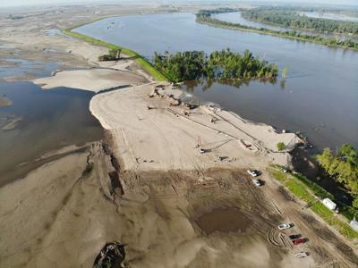 L-575 levee breach near Percival
