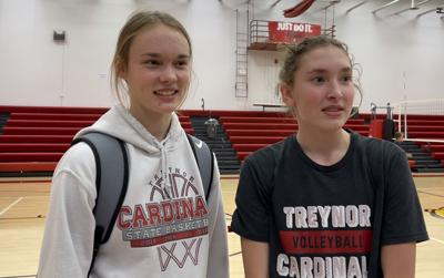 EMMA FLATHERS AND MADDIE LEWIS - TREYNOR CARDINALS VOLLEYBALL