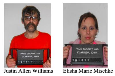 40-year-old Justin Williams of Clarinda and 38-year-old Elisha Mischke of Jefferson, Iowa