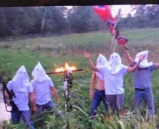 Disgusting Snapchat Shows White Students In KKK Hoods Next To Burning Cross