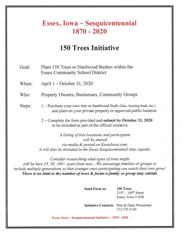Essex 150th Tree Initiative