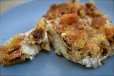Stuffed Cinnamon Raisin French Toast Casserole