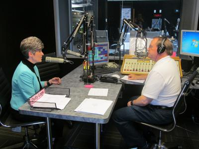 Iowa Senator Joni Ernst at KMA studios