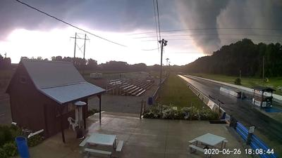 Pacemakers Dragway Park funnel cloud