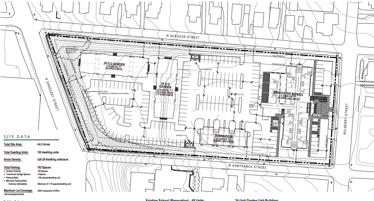 301 N Mulberry 102 units design