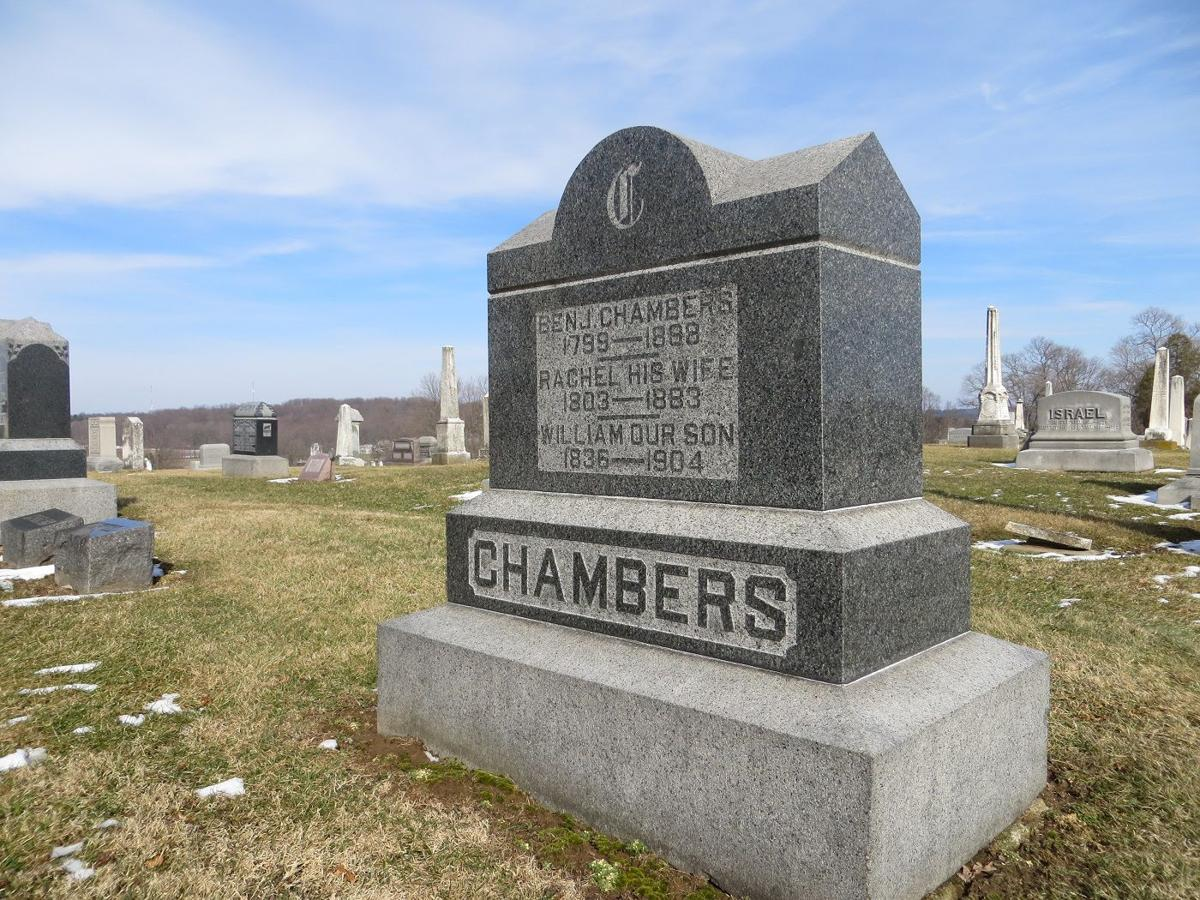 Chambers family tombstone: