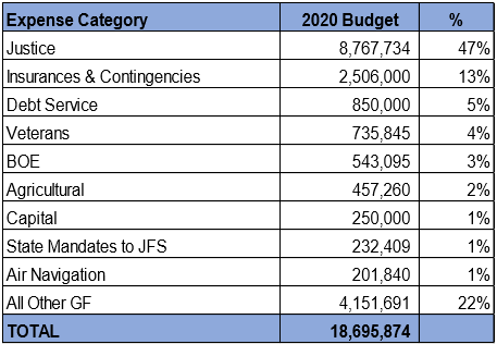 2020 budget county expenses