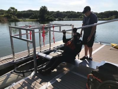 ADA-accessible kayak launch