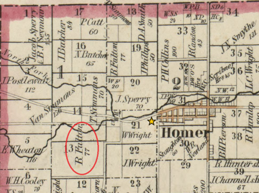 Licking County1854 Map
