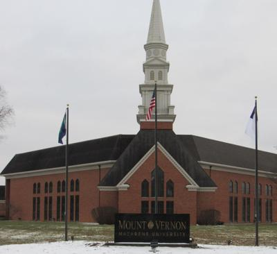 MVNU formal entrance to building