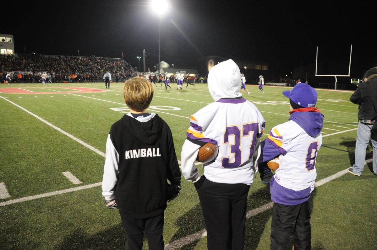 East Knox youth football players