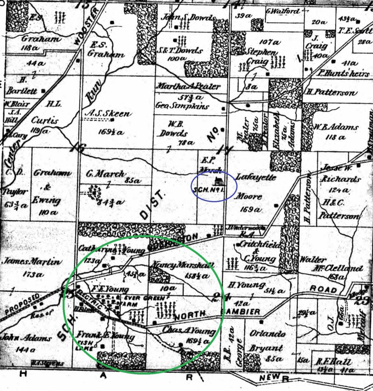 Monroe Township is seen in this 1896 map