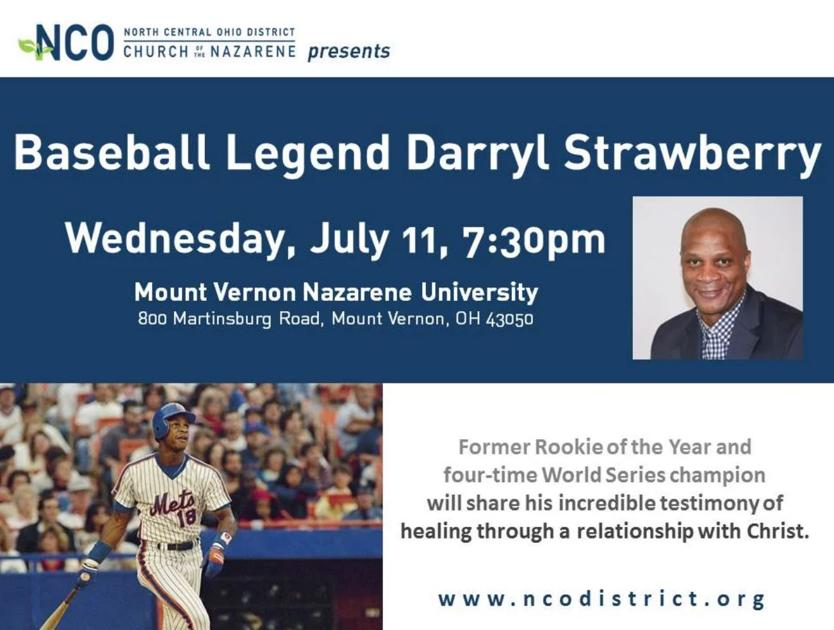 Mlb Legend Darryl Strawberry Coming To Mount Vernon Life Culture Knoxpages Com