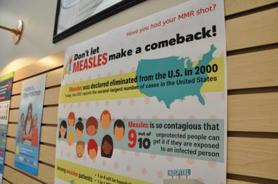 Health Department measles poster