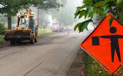 East Gambier Street paving project slows traffic