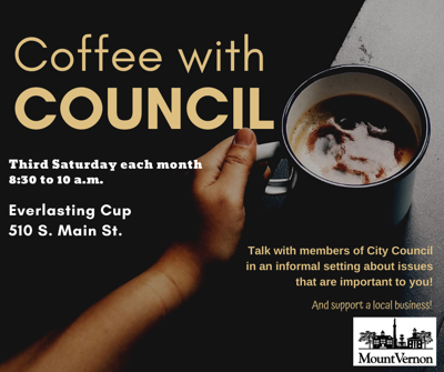 Coffee with Council logo