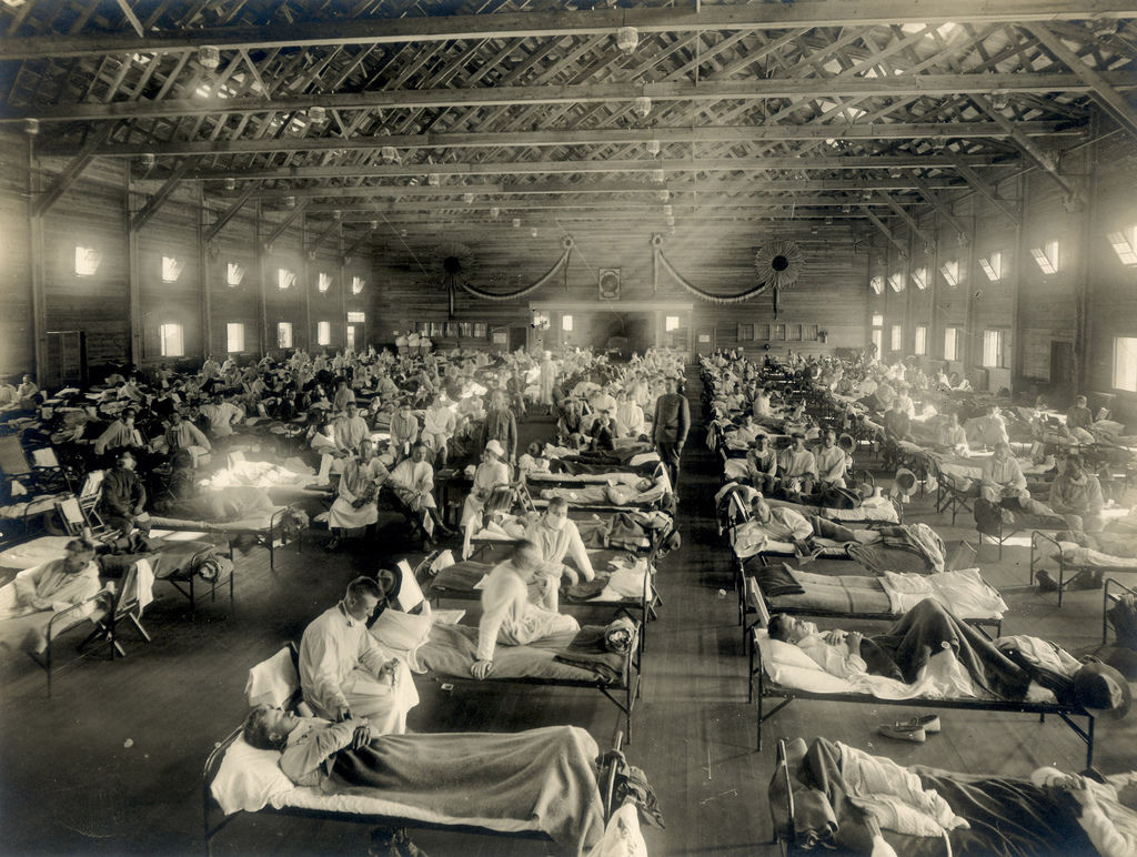 Army flu hospital Kansas