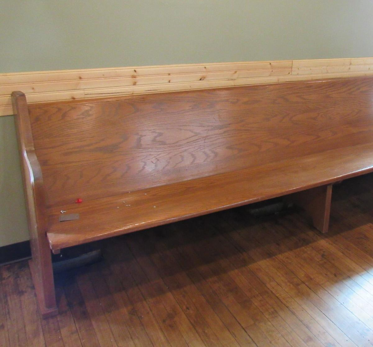 Dry Creek Cafe pew seating