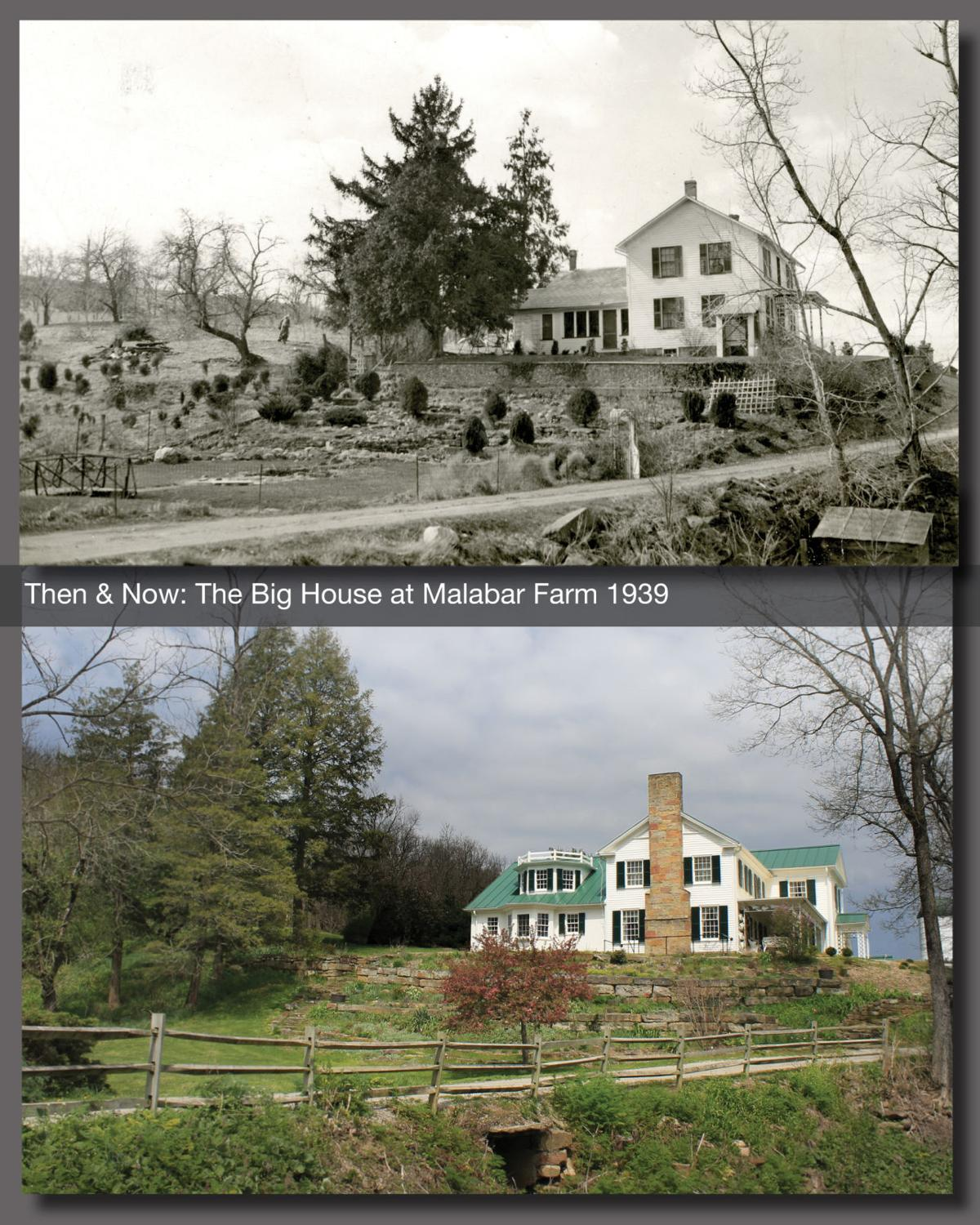Then & Now: The Big House at Malabar Farm 1939
