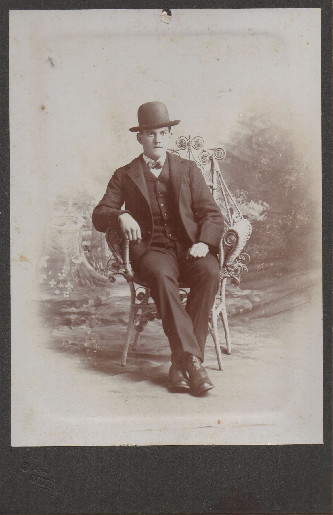 Photo of dapper young man from 1800s